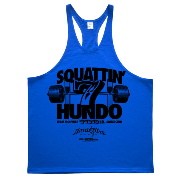 700 Squat Club Stringer Tank Top Royal Blue