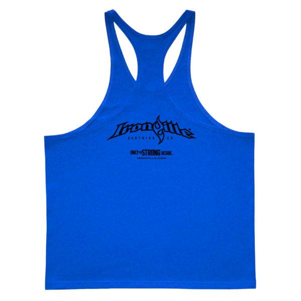 Ironville Stringer Tank Top Full Horizontal Logo Back Royal Blue
