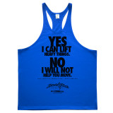 Yes I Can Lift Heavy Things No I Will Not Help You Move Powerlifting Stringer Tank Top Royal Blue