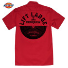Lift Large And Conquer Casual Button Down Bodybuilder Shop Shirt Red