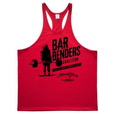 Bar Benders Coalition Pullin Deads Turnin Heads Powerlifting Stringer Tank Top Red