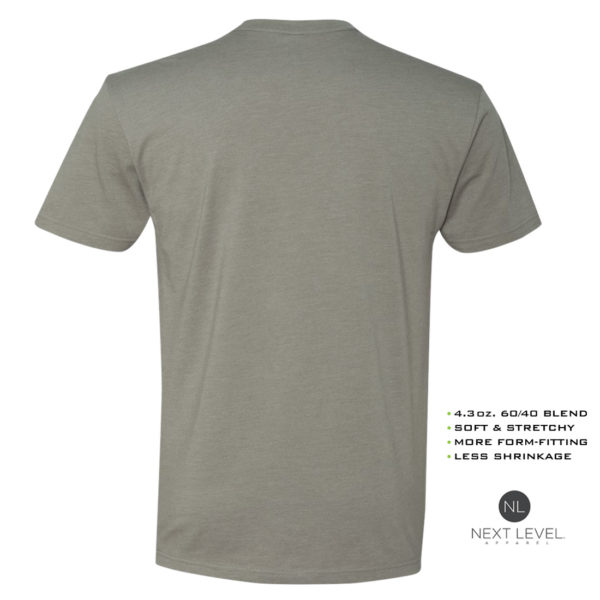 Ironville Weightlifting Soft Blend Fitted T Shirt Blank Stone Gray Back