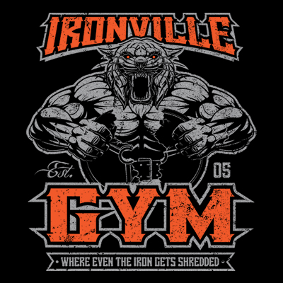 Ironville Gym Tiger - Where Even The Iron Gets Shredded