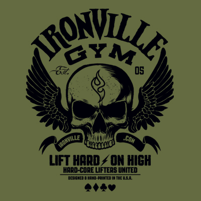 Ironville Gym Wings - Lift Hard On High - Hard-Core Lifters United