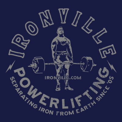 Ironville Powerlifting Vintage Deadlift - Separating Iron from Earth Since '05