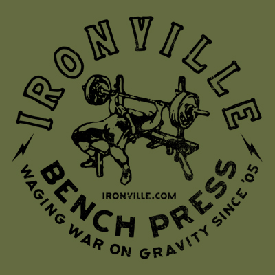 Ironville Old School Bench Press - Waging War on Gravity Since '05