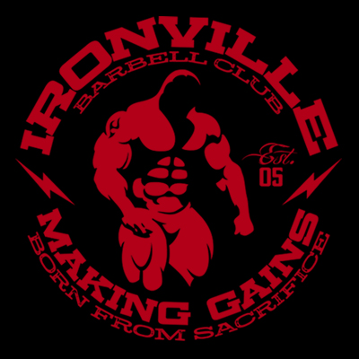 Ironville Barbell Club - Ghost Bodybuilder Making Gains Born from Sacrifice.