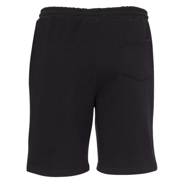 Ironville Gym Fleece Sweat Shorts Black Blank Back
