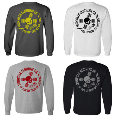 Ironville For Lifters Powerlifting Bodybuilding Long Sleeve T Shirts 2021