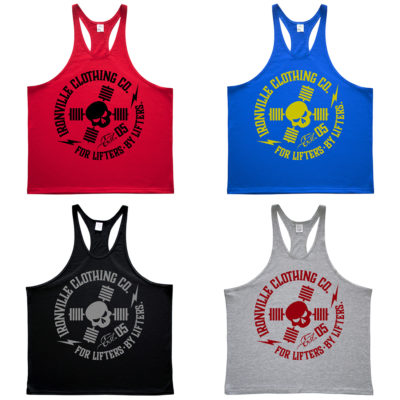 Ironville For Lifters Powerlifting Bodybuilding Stringer Tank Tops 2021