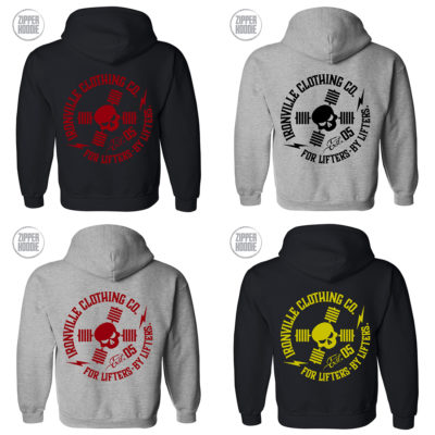 Ironville For Lifters Powerlifting Bodybuilding Zipper Hoodie 2021